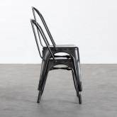 Esszimmerstuhl aus Galvanisiertem Stahl Industrial, Miniaturansicht 3