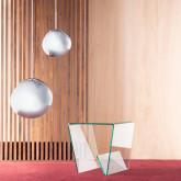 Mesa de Centro Cuadrada con Revistero en Cristal (50x50 cm) Vidre Line, imagen miniatura 2