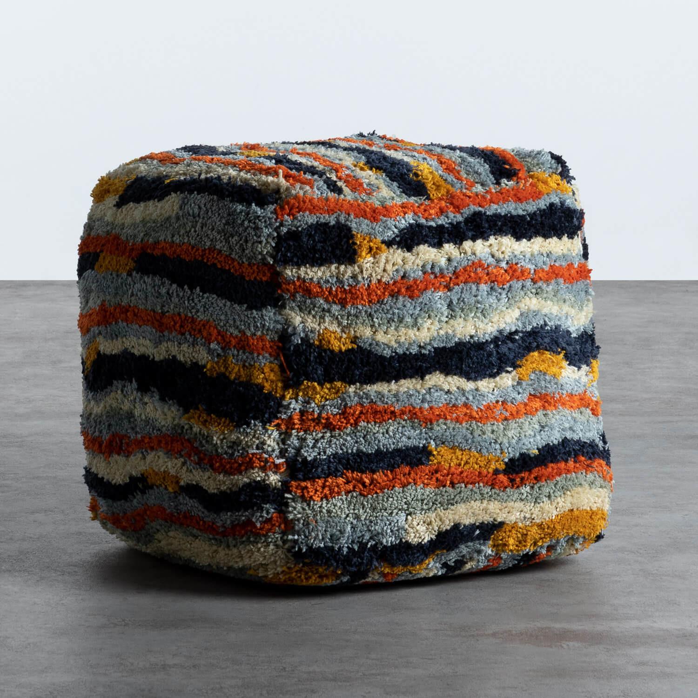 Puff Cuadrado en Tela Viele, imagen de galería 1