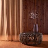 Mesa de Centro Redonda en Ratán y Cristal (Ø85 cm) Nilos, imagen miniatura 2