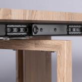 Mesa de Comedor Extensible en MDF (45,5-180,5x90 cm) Guest Rustic, imagen miniatura 11