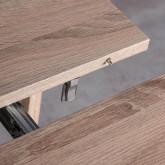 Mesa de Comedor Extensible en MDF (45,5-180,5x90 cm) Guest Rustic, imagen miniatura 12