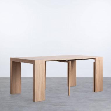 Mesa de Comedor Extensible en MDF (45,5-180,5x90 cm) Guest Rustic