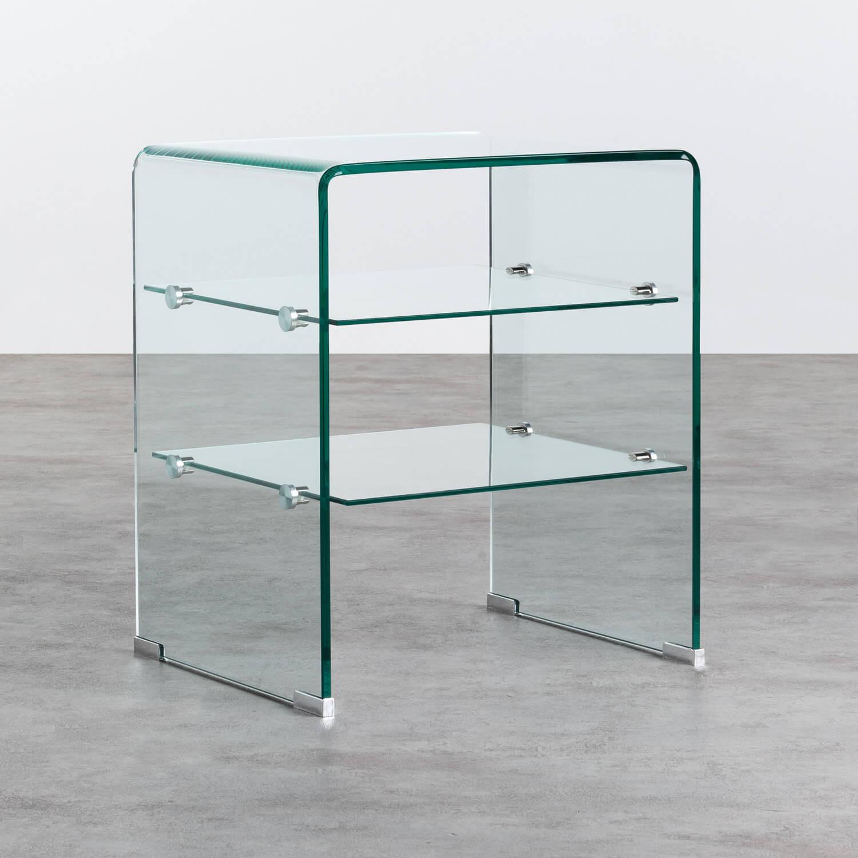 Estantería de Cristal Curvado (58 cm) Casey, imagen de galería 1