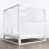 Cama Balinesa Reclinable de Tela y Aluminio Mersia, imagen miniatura 1
