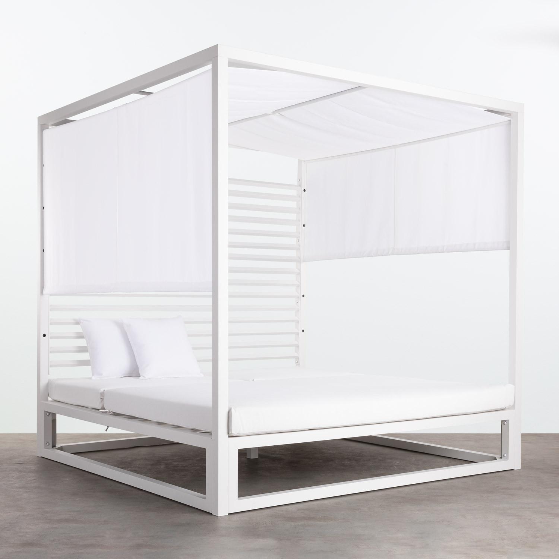 Cama Balinesa Reclinable de Tela y Aluminio Mersia, imagen de galería 1