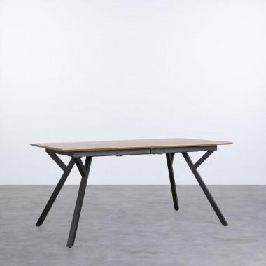 Mesa de Comedor Extensible de MDF y Metal (160-200x90 cm) Vedra