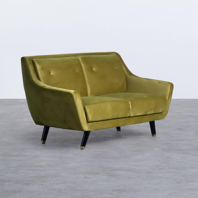 Sofá de 2 Plazas en Terciopelo Nubo, imagen de galería 1