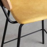 Taburete Alto en Polipiel y Madera Tallor (66 cm), imagen miniatura 7