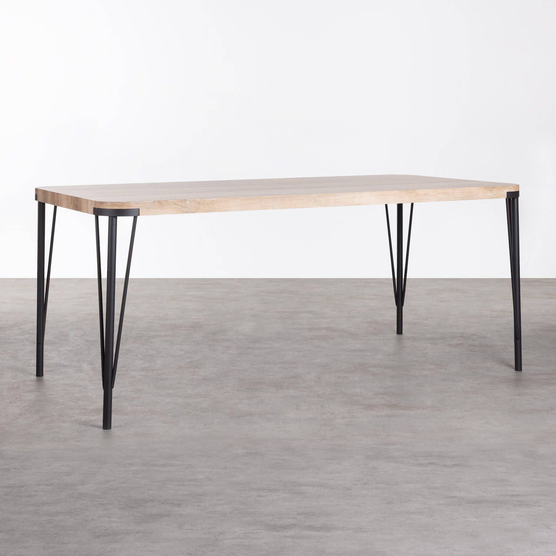 Mesa de Comedor Rectangular de MDF y Metal (180x90 cm) Brely, imagen de galería 1