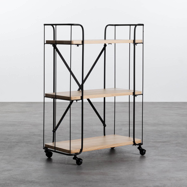 Carrito en Madera y Acero (62x31 cm) Ehud, imagen de galería 1