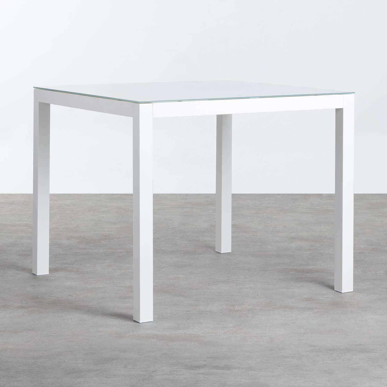 Mesa de Exterior Cuadrada de Aluminio (90x90 cm) Beldin, imagen de galería 1