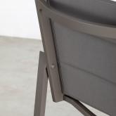 Taburete Alto de Exterior en Aluminio y Textilene Amane(74 cm) , imagen miniatura 5