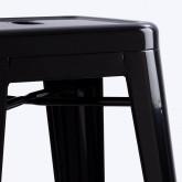 Taburete Alto en Acero Industrial (76 cm), imagen miniatura 3