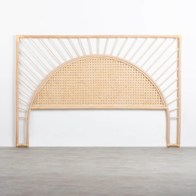 Cabecero de Cama de Ratán Natural (185 cm) Klaipe, imagen de galería 1