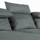 Sofá Chaise Longue Derecha 4 Plazas en Nobuck Textil Goldin, imagen miniatura 4