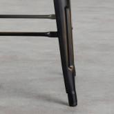 Taburete Alto en Acero Vecchio Industrial Respaldo (68 cm), imagen miniatura 4
