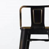 Taburete Alto en Acero Vecchio Industrial Respaldo (68 cm), imagen miniatura 5