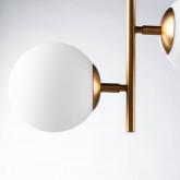 Lámpara de Techo Doble De Acero y Cristal Sipre, imagen miniatura 6