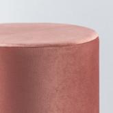 Puff Redondo de Terciopelo y Metal Velluto Luxe, imagen miniatura 3