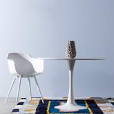Mesa de Comedor Redonda en MDF y Metal (Ø100 cm) Chess, imagen miniatura 2