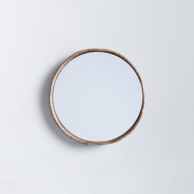 Espejo de Pared Redondo Madera (Ø40 cm) Banli