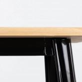 Mesa de Comedor Cuadrada en Madera y Acero (80x80 cm) Industrial Fino, imagen miniatura 4