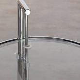 Mesa Auxiliar Regulable en Metal y Cristal (Ø50 cm) Latte, imagen miniatura 6