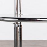 Mesa Auxiliar Regulable en Metal y Cristal (Ø50 cm) Latte, imagen miniatura 8