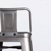 Taburete Alto en Acero Industrial Vecchio Respaldo (77 cm), imagen miniatura 5