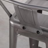 Taburete Alto en Acero Industrial Vecchio Respaldo (77 cm), imagen miniatura 6