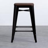 Taburete Bajo en Acero Industrial Wood Edición Negro (59 cm), imagen miniatura 2