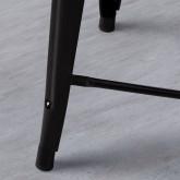Taburete Bajo en Acero Industrial Wood Edición Negro (59 cm), imagen miniatura 3