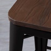 Taburete Bajo en Acero Industrial Wood Edición Negro (59 cm), imagen miniatura 4