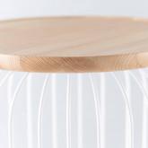 Lámpara de Pie LED en Madera y Metal Gabi, imagen miniatura 6