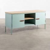 Mueble de TV con 2 Puertas y Almacenaje de Metal y Madera Meder, imagen miniatura 1
