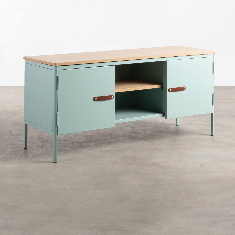 Mueble de TV con 2 Puertas y Almacenaje de Metal y Madera Meder, imagen de galería 1