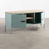 Mueble de TV con 2 Puertas y Almacenaje de Metal y Madera Meder, imagen miniatura 2