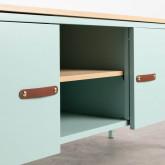 Mueble de TV con 2 Puertas y Almacenaje de Metal y Madera Meder, imagen miniatura 5