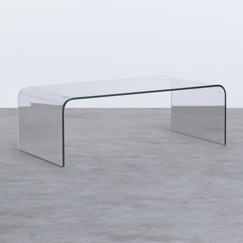 Mesa de Centro Rectangular en Cristal (120x60 cm) Curve, imagen de galería 1