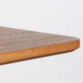 Mesa de Comedor Cuadrada en MDF y Metal (70x70 cm) Bar Square, imagen miniatura 4