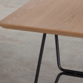 Mesa de Comedor de MDF y Metal (160x90 cm) Velm, imagen miniatura 7