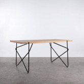 Mesa de Comedor de MDF y Metal  (160x84,7 cm) Rombio, imagen miniatura 1