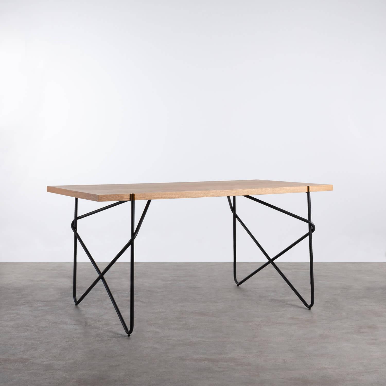 Mesa de Comedor de MDF y Metal  (160x84,7 cm) Rombio, imagen de galería 1