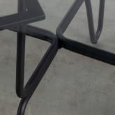 Mesa de Comedor de Cristal Templado y Metal  ( Ø110 cm) Aldab, imagen miniatura 4