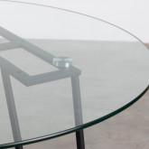 Mesa de Comedor de Cristal Templado y Metal  ( Ø110 cm) Aldab, imagen miniatura 5