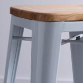 Taburete Alto en Acero Industrial Wood (66 cm), imagen miniatura 3