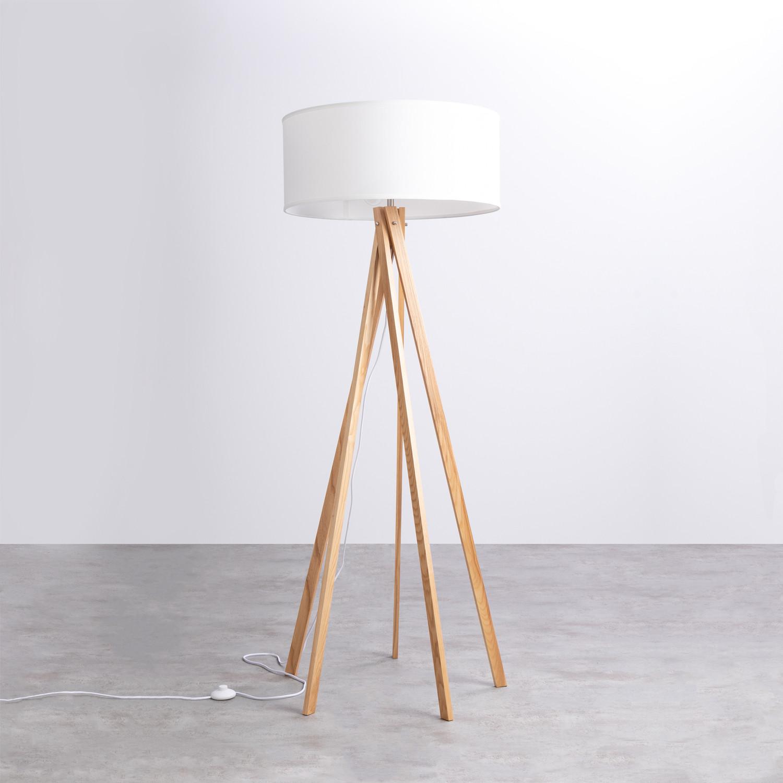 Lámpara de Pie en Madera y Tela Her, imagen de galería 1