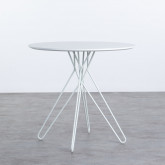 Mesa de Comedor Redonda en MDF y Metal (Ø80 cm) Buk, imagen miniatura 1