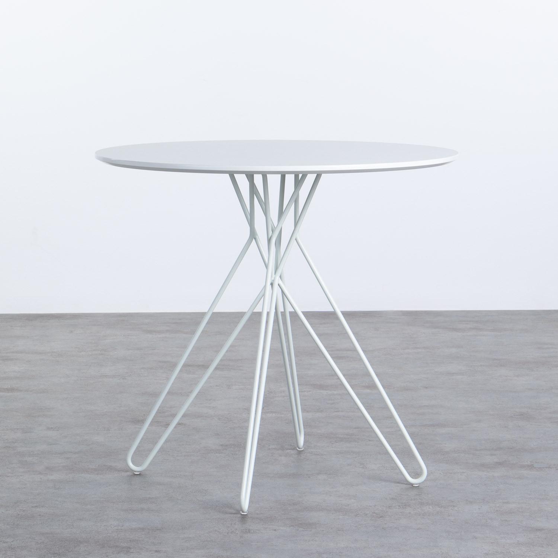 Mesa de Comedor Redonda en MDF y Metal (Ø80 cm) Buk, imagen de galería 1